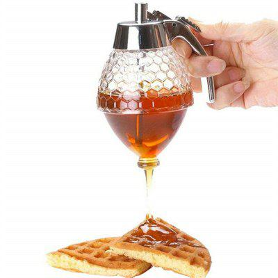 Honey Syrup Dispenser Dripless Glass Pot Vintage Container
