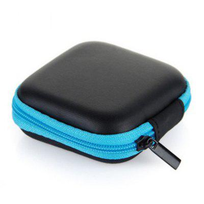 Mini Zipper Hard Headphone Case Portable Earbuds Pouch Box