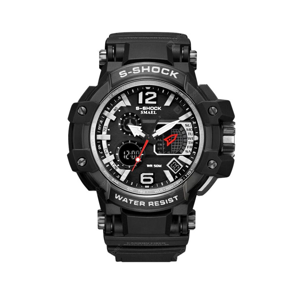 SMAEL Sport LED Digital 50m Waterproof Casual Watch S Shock Male Clock