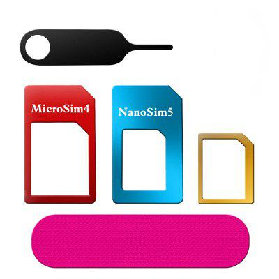 5-in-1 Nano Micro Standard SIM Card Adapter Converter Set