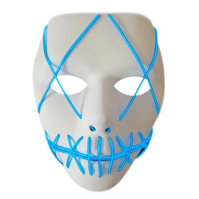 Halloween EL Wire Ghost Mask Cold LED Light Up Neon Mask For Halloween
