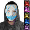 Halloween EL Wire Ghost Mask Cold LED Light Up Neon Mask For Halloween - WHITE