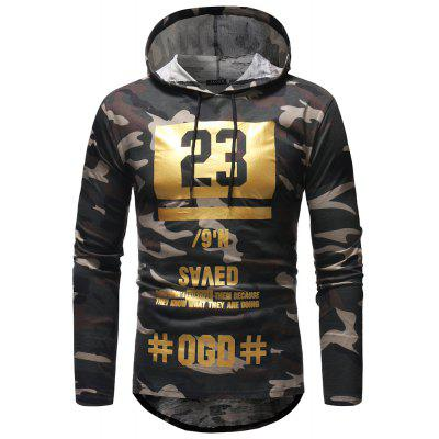 Men's Casual Camouflage Hooded T-shirt