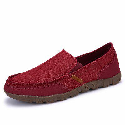 ZEACAVA Spring and Autumn Large Size Breathable Canvas Men's Shoes