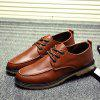 ZEACAVA New Men's Casual Fashion Tool Leather Shoes - BROWN
