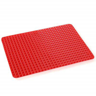 Pyramid Pan Fat Reducing Non Stick Silicone Mould Cooking Oven Baking Tray Mat