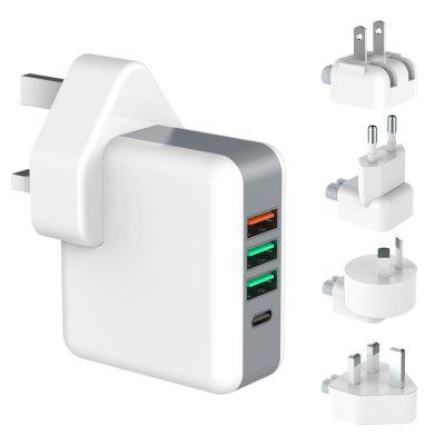 Quick Charge 3.0 Travel Charger Adaptor 4 Port USB Plug Adapter Universal World