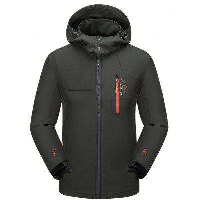 Men's Casual Waterproof Windproof Lightweight Oversize Outdoor Hood Jacket