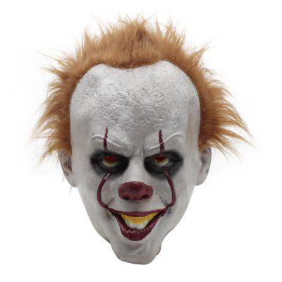 YEDUO Latex Halloween Masque Effrayant Cosplay Clown Party Prop