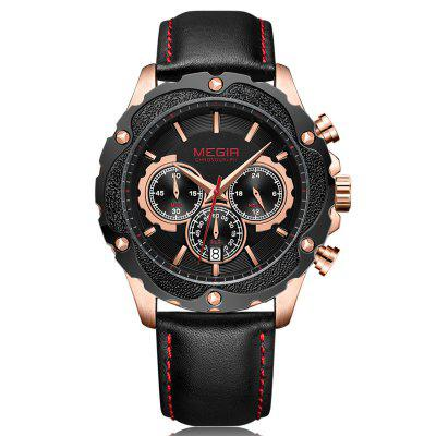 Megir Men Sport Chronograph Waterproof Calendar Quartz Watch