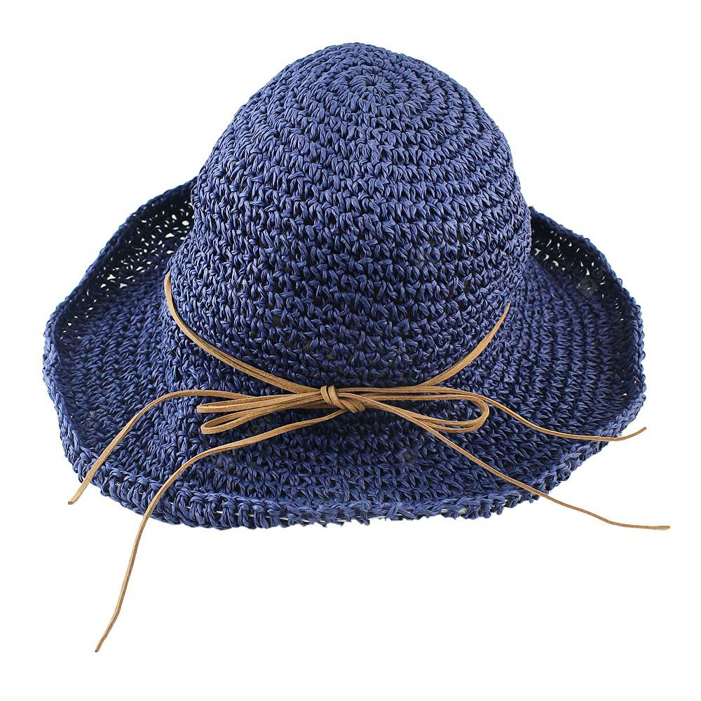 92ef953a078b8 Straw Weave Colorful Elastic Ribbon Patchwork Sun Hat for Women ...