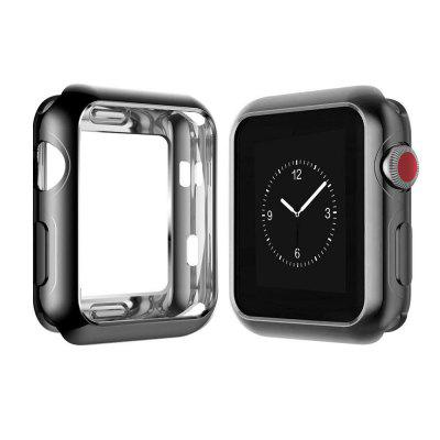 38mm Soft Flexible Lightweight TPU Plated Protector Case for Apple Watch