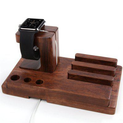 Téléphone de bureau en bois de support de dock de charge pour Apple Watch / iPad / iPhone
