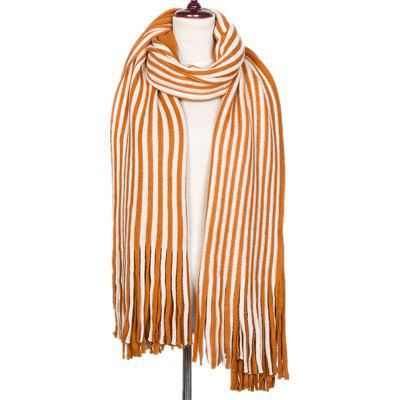 New Fall and Winter Fashion Double Color Stripe Imitation of Cashmere Scarf