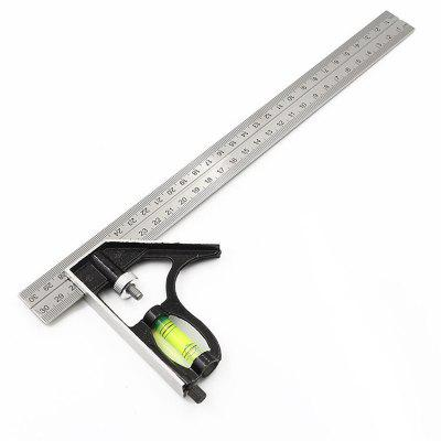 300mm Combination Try Square Stainless Steel Woodworking Tools Ruler