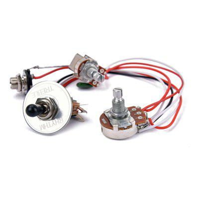 Electric Guitar Wiring Harness Prewired Kit 3 Way Toggle Switch 1 Tone 500K Pots