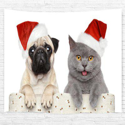 Christmas Cat and Dog 3D Printing Home Wall Hanging Tapestry for Decoration