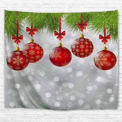 Red Christmas Ball 3D Printing Home Wall Hanging Tapestry for Decoration
