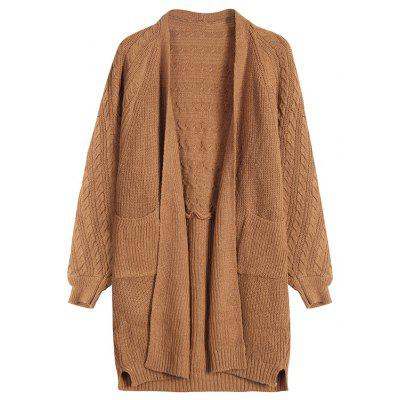 Women's Mid-Length Cardigan New Loose Knit Long-Sleeved Sweater Coat