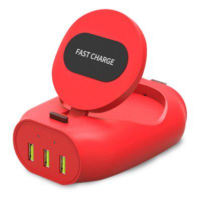 Fast Wireless Charger 3 USB Ports Inductive Charging Station For Samsung/ iPhone
