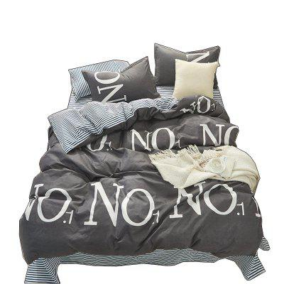 Nordic Aloe Cotton Bedding Set-Letter