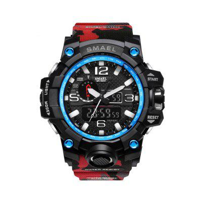 SMAEL Camouflage 1545B Watch Men New Style Digital Waterproof Sports Military RED