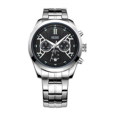 Megir Male Quartz Watch Chronograph 24 Hours Display Luminous Date