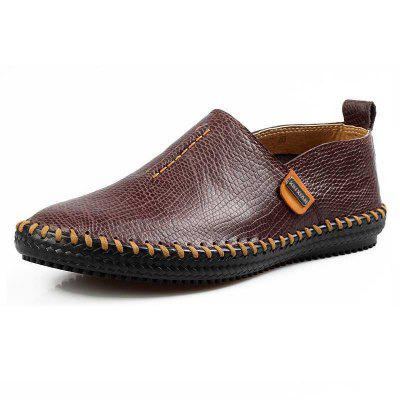 ZEACAVA Fashion Big Size Driving Casual Men's Leather Shoes
