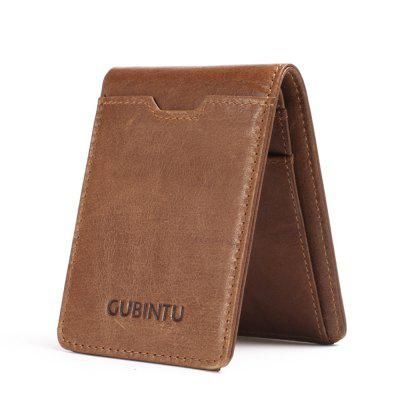 GUBINTU Genuine Leather Wallet Men Credit Card Holder Money Clip Coin Purse