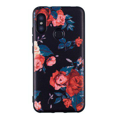 TPU Relief Case for Xiaomi Mi A2 Lite Safflower Pattern