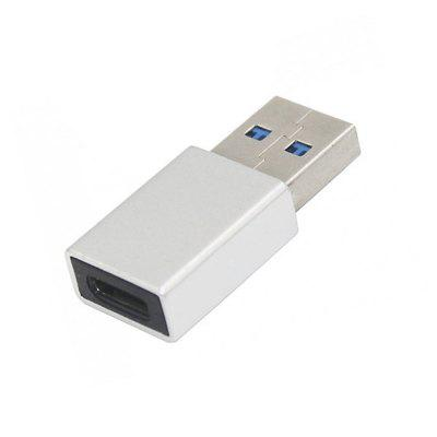 Aluminium Alloy Type-C Female to USB 3.0 Male Data Charging Extension Adapter