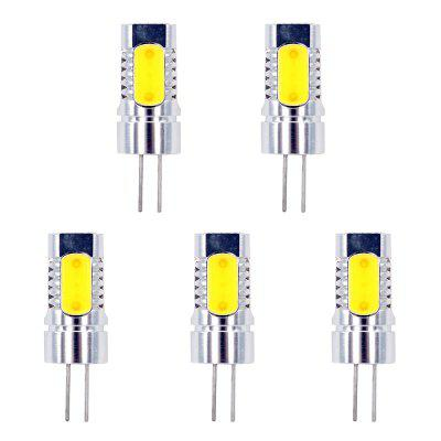 Aluminium G4 LED Light COB DC 12V Crystal Corn Żarówka 5W Replace Halogen Lamp 5szt