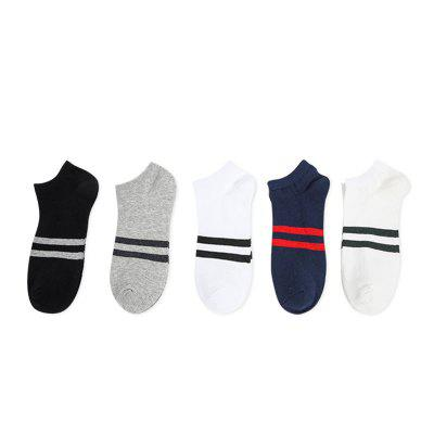 New Pure Cotton Men Stealth Boat Socks 5 Pair