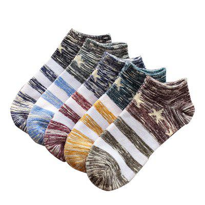 Fashion Cotton College Breeze Men Boat Socks 5 Pair