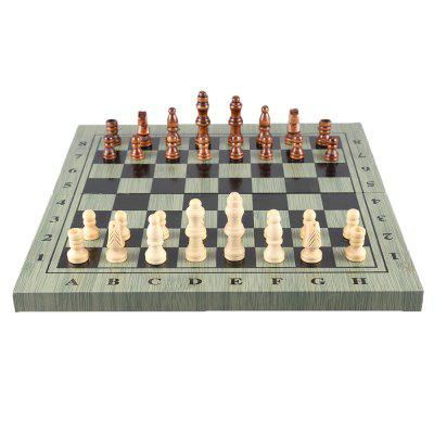 International Chess Checkers Folding Magnetic Board  Game 4 S