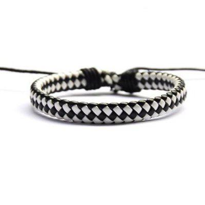 Hand Knitted Cowhide Bracelet Fashion Accessories