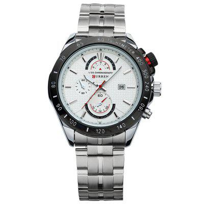 CURREN 8148 Merk luxe waterdichte date-top lederen band herenhorloge