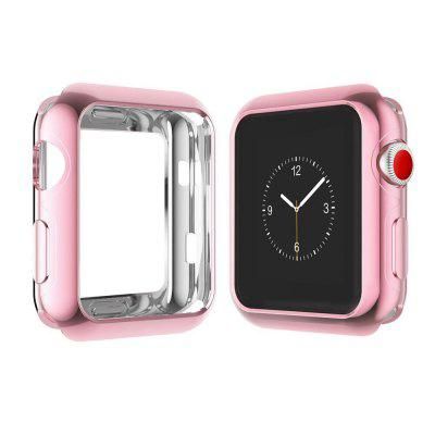 42mm TPU Plated Protector Case for Apple Watch + Tempered Glass Screen Protector