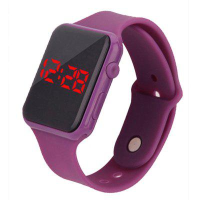 Fashion Large Dial LED Big Number Rubber Casual Sport Wrist Watch