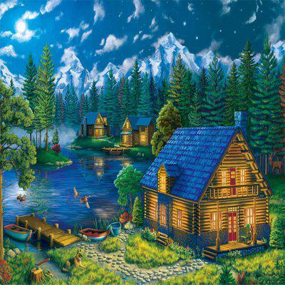 3D Jigsaw Paper Christmas Wood House  Puzzle Block Assembly Birthday Toy