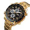 SKMEI 1302 Leisure Multifunctional Sports Electronic Watch - GOLD