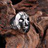 Fashion Zinc Alloy Punk Mask Men's Ring - SILVER