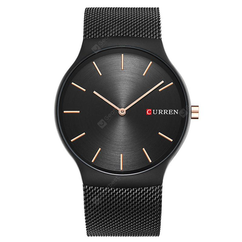 CURREN New Black Rose Gold Pointer Sports Wristwatch Quartz Business Watch Men