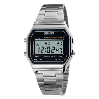 SKMEI Men LED Digital Sports Stainless Steel Military Waterproof Wrist Watch