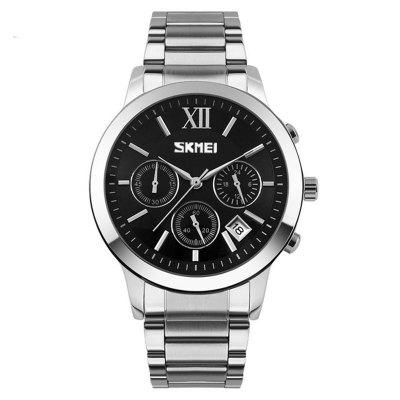 SKMEI Men's Business Casual Belt Waterproof Quartz Watch