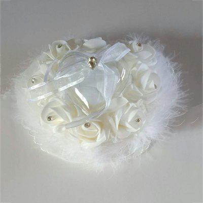 Lace Bird Feather Wedding Ring Collection Box