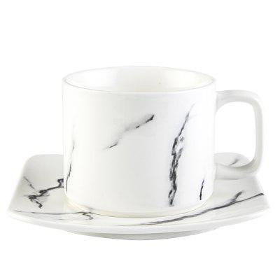 Northern Europe Ceramics Marbling Afternoon Tea Coffee Cup And Saucer