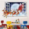 Santa Claus Sleigh Deer 3D Vinilos Decorativos - MULTICOLOR