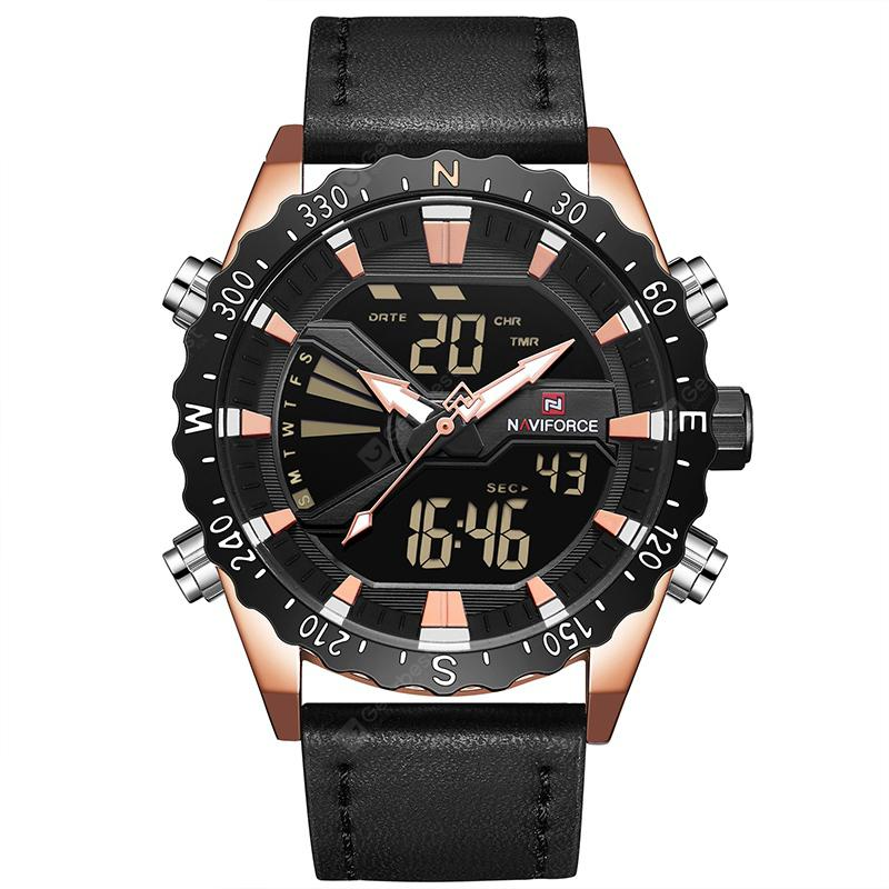 NAVIFORCE 9136 New Dual Movement Multi-function Men's Watch