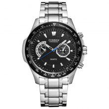 Gearbest Curren Black Vogue Business Military Men's Watches